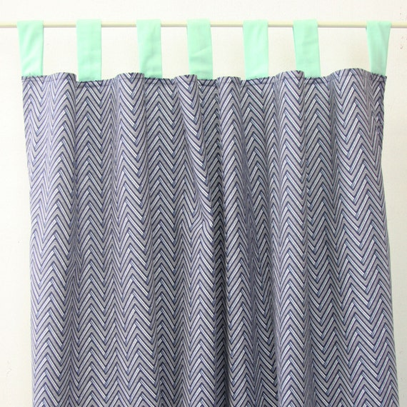 15 off sale mint and navy chevron curtain by cadenlanebabybedding