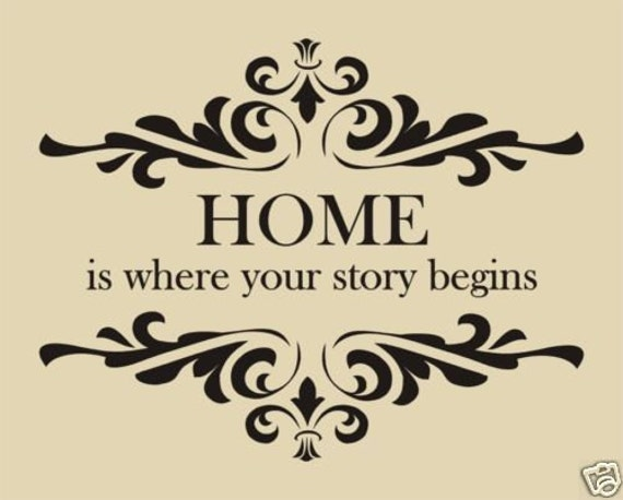 Items similar to Home is Where Your Story Begins Wall ...