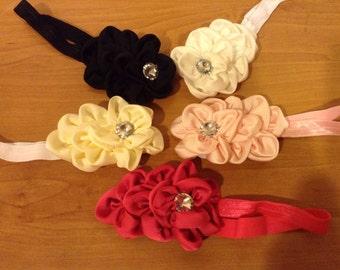 Petal Flower Bow on Headband or clip