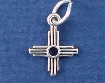 ZIA SUN Charm .925 Sterling Silver New Mexico Symbol, Southwest MINIATURE Small - elp648