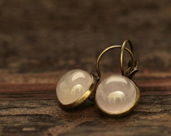Rose Quartz Earrings - e112