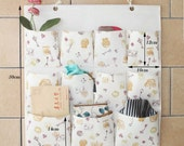 11 pockets storage pocket /wall pocket / wall storage bag / household storage/back door pouch