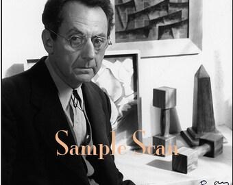 Signed Man Ray in his Paris Studio
