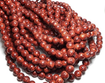8/9mm Salwag Seed Beads, Rust Brown Salwag Beads, Rust Colored Beads, Rustic Beads, Salwag Seed Beads, Red Orange Natural Beads D-O04R