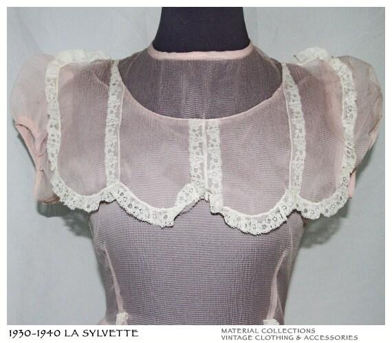 Vintage LA SYLVETTE 1930s Dress Material Collections