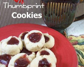 GLUTEN FREE Jam Thumbprint Cookies - 1dz