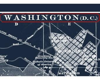 Map of boston massachusetts blueprint map boston map washington dc map washington dc print washington dc skyline washington dc art malvernweather Image collections