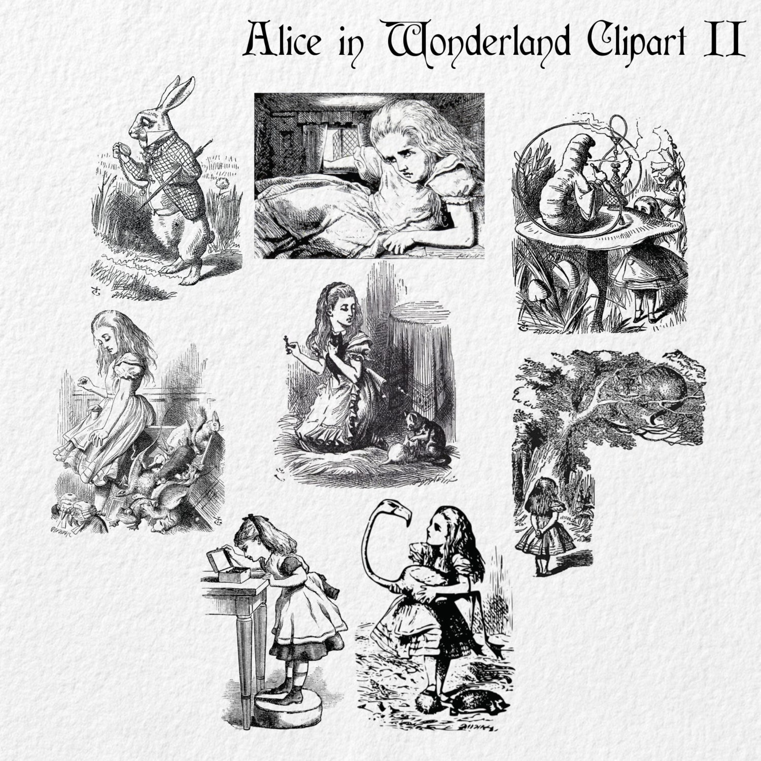 vintage clip art alice in wonderland - photo #19