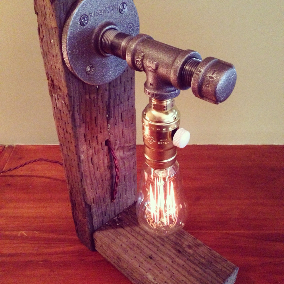 Industrial Lighting Steampunk Lamp Table By