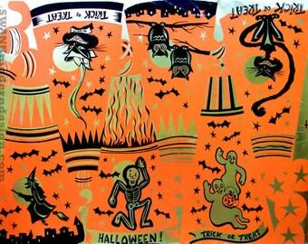 Vintage Halloween Production Art