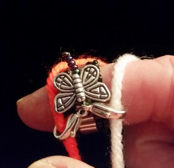 Knitting Ring Yarn Guide : Butterfly yarn guide ring tensioner tension knitting