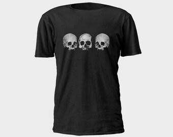Mens Pirate T-Shirt - 3 Skulls