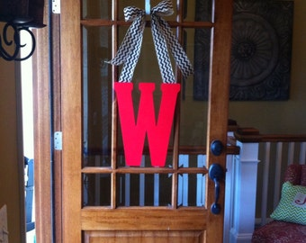 initial door hanger, momogram wreath, large letter, wedding gift