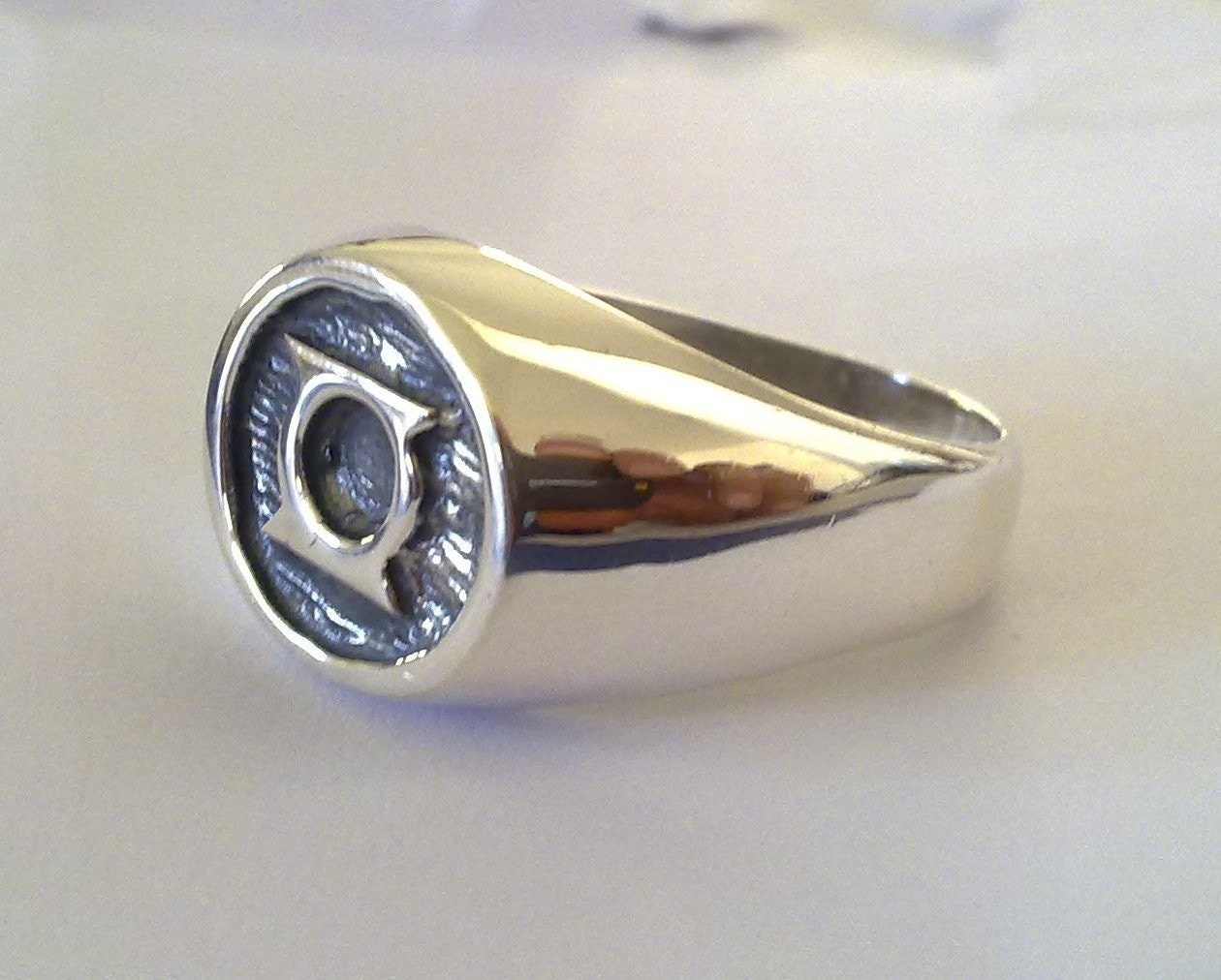 green lantern corps ring sterling silver 925 by vikigreen