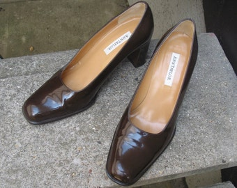 Womens Brown Leather Ann Taylor Vintage Shoes Size 7 M