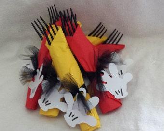 Mickey Mouse Glove Napkins-Set of 8