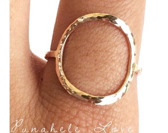 Everlasting Ring - Circle Ring - 14k gold filled or sterling silver