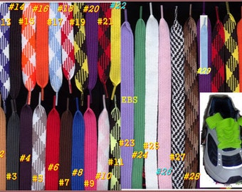 FASHION thick fat flat retro wide hip hop Skateboard Skating shoelace string hair tie cheerleader 1 pair