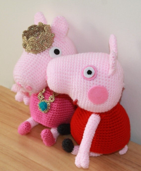 Amigurumi Deer Pattern : Peppa Pig doll and princess crochet pattern by ...