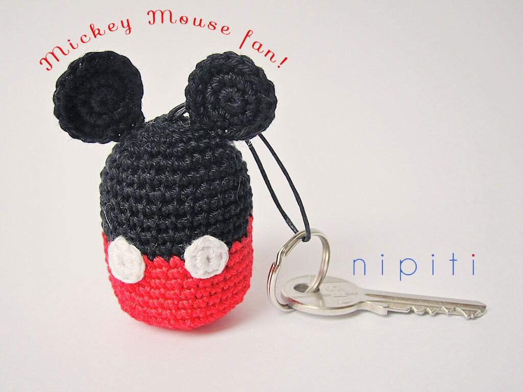 Crochet keychain MICKEY MOUSE Amigurumi Keyring Party by ...