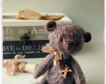 Pocket teddy bear 5inch  pattern-mohair,german viscose
