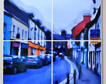 "Sunny Day in Dingle 24"" by 24"" Digitally Altered Wall Art"
