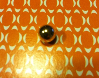 Mens genuine real 14kt yellow gold ball bead tie tack