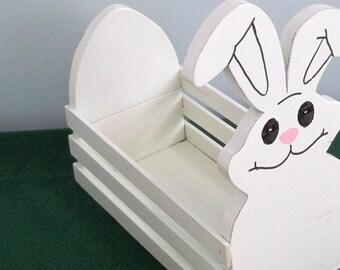 Wooden Bunny Basket