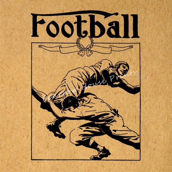 Vintage Baseball Wall Decor : Items similar to football art antique wall sports home
