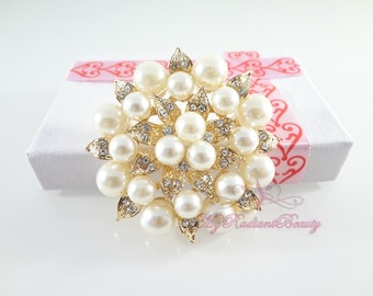 Rhinestone Brooch, Bridal Brooch, Gold Brooch, Brooch Pin, Jewelry Accessory Brooch,Flower Brooch, Wedding Brooch, Vintage Brooch  BR0010