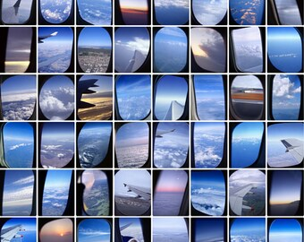 AIRPLANE WINDOWS Fine Art Travel Photography Print 11 x 14 Inches