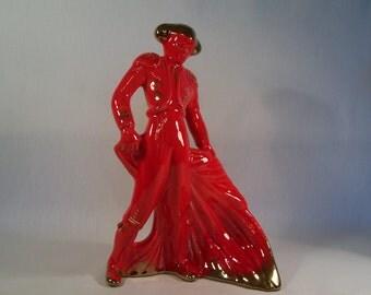 Mid Century Matador Red Ceramic    S326