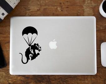 Banksy Rat Parachute MacBook Decal