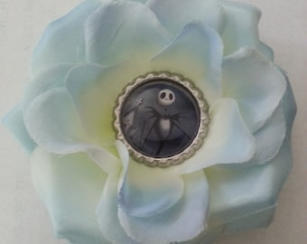 Jack Skellington- Jack Skellington Blue Hair Flower- Jack Skellington Hair Flowers- Nightmare Before Christmas- Hair Flowers