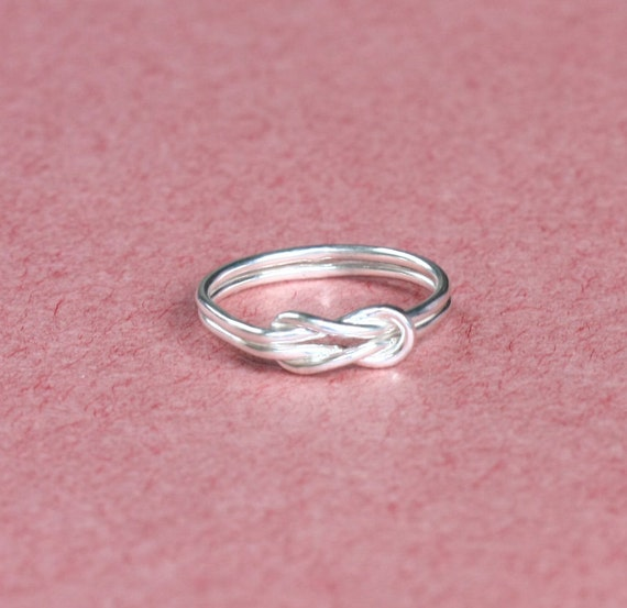 sale 10 simple knot silver ring jewelry by silverelegant