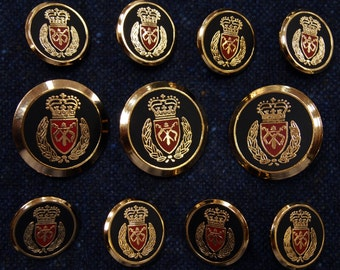 Antique Brass Blazer Buttons Set for suit jacket blazer or by
