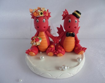 Dragon. cake topper Custom Wedding Cake Topper.Cute