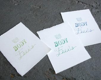 Body Feels Silkscreen Print