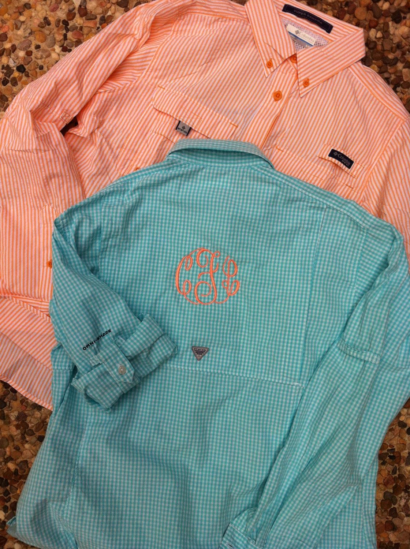 Monogrammed Columbia Pfg Fishing Shirt Women 39 S By