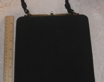 Vintage Black L and M Bags by Edwards Made in USA Handbag Purse