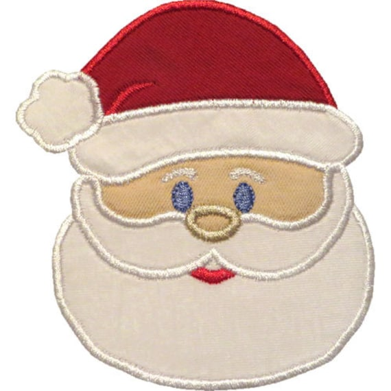 Santa Head Applique Embroidery Design