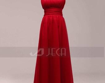 Asymmetrical Neckline Bridesmaid Dress Formal Dress Prom Dress B461