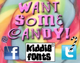 WANT SOME CANDY? Commercial Font