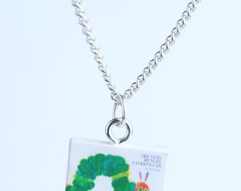 The Very  Hungry Catapillar Book Novel Necklace