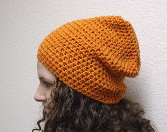 Orange Slouchy Beanie | Slouchy Beanie | Orange Beanie | Winter Hat | Orange Hat | Carrot Orange | Pumpkin Orange