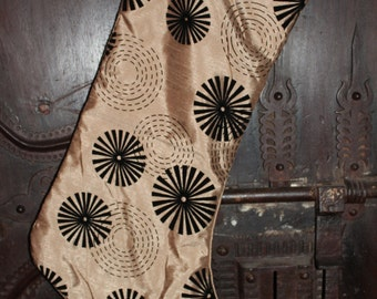 Faux Silk Dupioni Stocking - Swirl