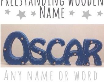 Freestanding Wooden Name