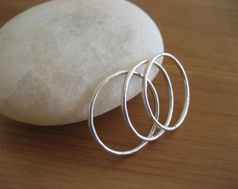 Sterling silver stackable ring, knuckle midi ring