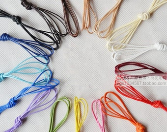 1mm 18 colors Waxed Cotton Cord/Rope/String,Necklace and Bracelet Cord,Beading String Cord,Jewelry Making DIY Cord,