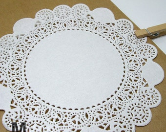 50 Sheets 5/ 6/ 7inch_Circle Paper Doilies_Small Medium Large size Lace Doilies Paper_Doily paper